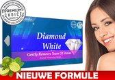Diamond White - Teeth Whitening Strips - 28x Tandenbleek Strips - Zonder Peroxide (0%)- 100% Vegan & Gluten Free - White Strips Tanden - Tandenbleekset - Ideaal Cadeau - Tropical Mint