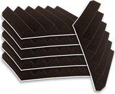 Zelfklevende geluidsisolatie wedge | Akoestische panelen | isolatieplaten | Zelfklevende wandpanelen | Studioschuim |  | Geluidsdemper | 30 x 30 x 5 cm | 0,53m2 | 6 stuks - Zwart