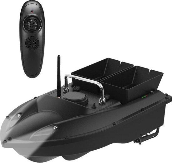 BrightWise® Voerboot Pro Dubbele Voerbak met Fluistermotor - Voerboot karper – Baitboat - Karpervissen - Visspullen - Vissersboot - Vis accessoires - 3 Kg Draagvermogen - Volledige set (inclusief accu & batterijen) - Zwart