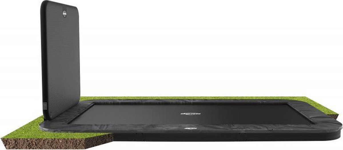 BERG Trampoline Ultim Elite FlatGround 500 x 300 cm + Aerowall - Grijs