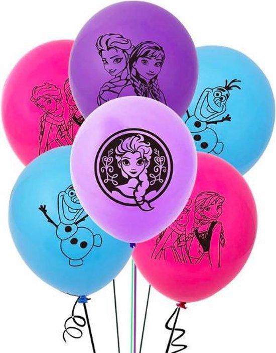 ProductGoods - 10x Frozen Ballonnen Verjaardag - Verjaardag Kinderen - Ballonnen - Ballonnen Verjaardag - Frozen - Kinderfeestje