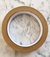 Papier Tape Ecologisch - 25 Meter x 1 cm - Waterdichte Kraft Tape - Verpakkingstape - Afplaktape - Lichtbruine Plakbank - Knutselen - DIY - Schilderen