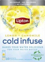 Lipton Cold Infuse Lemon & Camomile - 6 x 10 zakjes - Voordeelverpakking