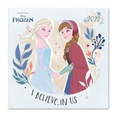 Frozen kalender 2022-Disney-tekenfilm-Anna-Elsa-formaat 30x30cm