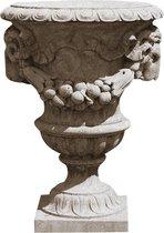 Beton tuin vaas - Garden vase ram head 102 cm hoog