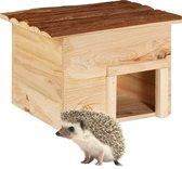 relaxdays egelhuis - hout - egelhuisje - overwintering - egelhotel - huis voor egels