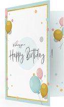 LocoMix - Muziekkaart voor verjaardag - Verjaardagskaart - Muziekwenskaart met eigen geluid - Verjaardag - Happy birthday