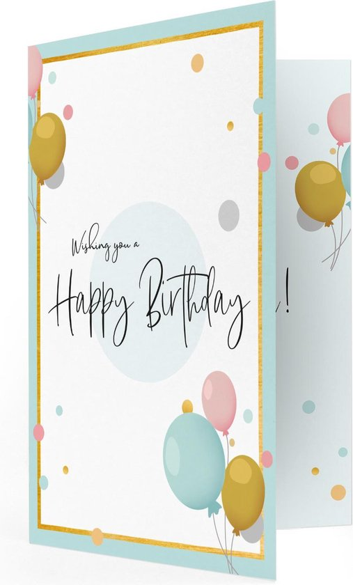 Happy Birthday Muziekkaart - Locomix