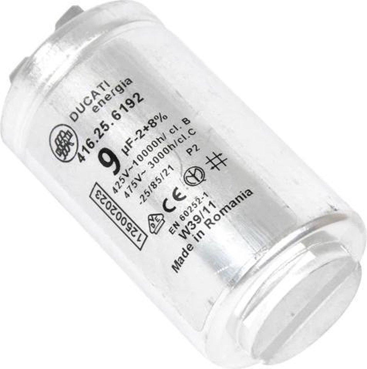 Condensator 9UF 9 uf aanloopcondensator wasdroger droger Aeg Electrolux