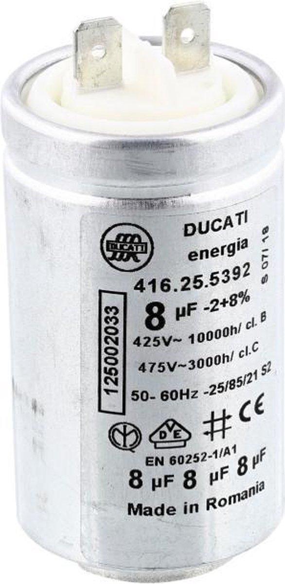Condensator 8UF 8 uf 450v aanloopcondensator droger wasdroger Aeg Electrolux