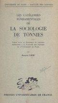 Les catégories fondamentales de la sociologie de Tönnies
