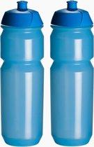 2 x Tacx Shiva Bidon - 750 ml - Transparant Blauw Drinkbus