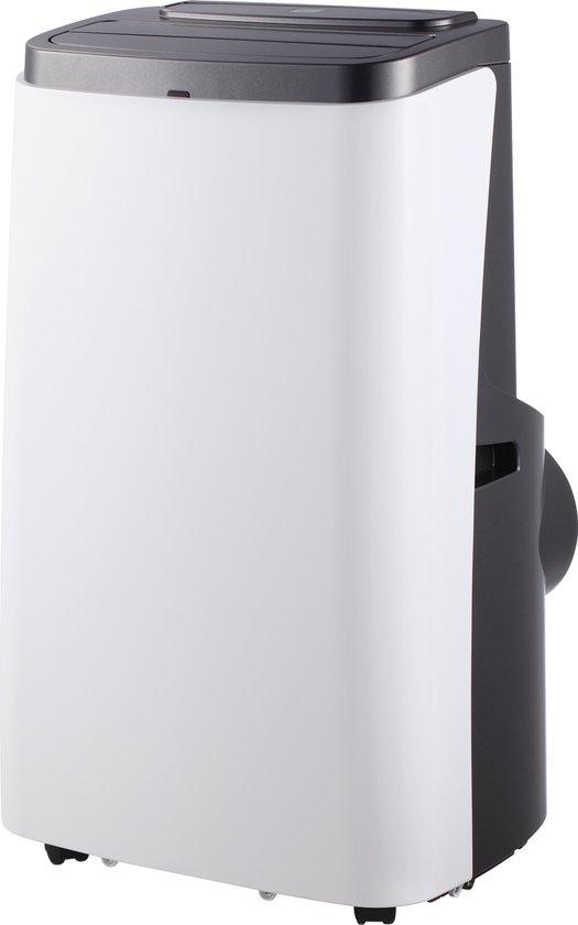 DELTACO SH-AC01 Mobiele airco - Koeling en verwarming - Bediening via App - Google Assistant – Amazon Alexa - Wit/Zwart