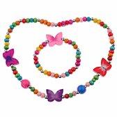 Fako Bijoux® - Kinderketting en Armband - Vlinders DLX