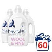 Neutral Vloeibaar Fijnwasmiddel - 60 Wasbeurten - Wasmiddel - 3 stuks - Voordeelverpakking