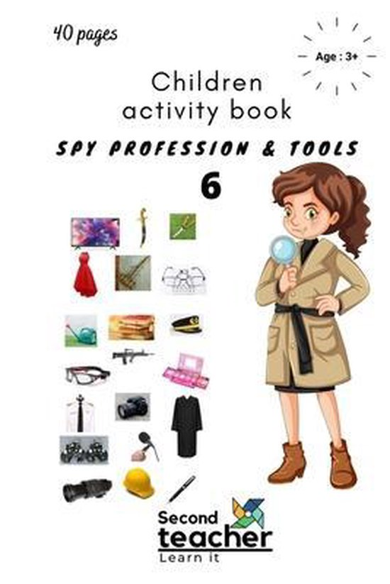 Spy Profession and Tools;children Activity Book-6