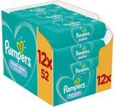 12 x Pampers Fresh Clean Babydoekjes 1 Verpakking = 52 Doekjes
