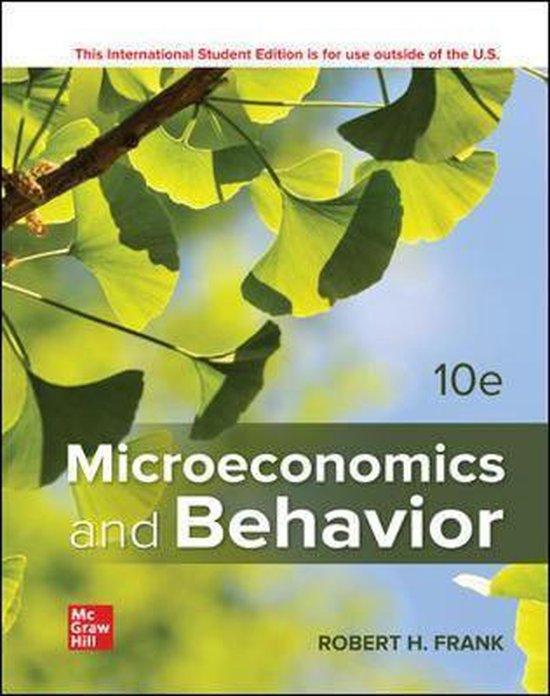Boek cover ISE Microeconomics and Behavior van Robert Frank