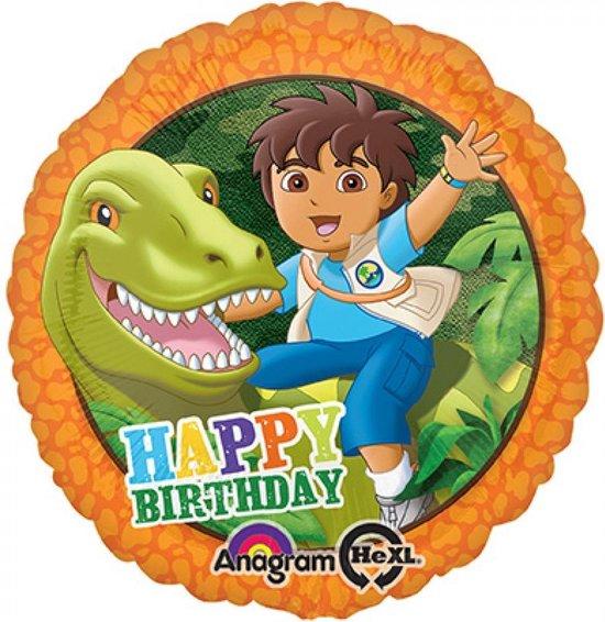 Folieballon Diego happy Birthday