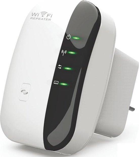 Wifi Versterker + Gratis Internet Kabel - 300Mbps - Repeater - Stopcontact - Draadloos en Bedraad