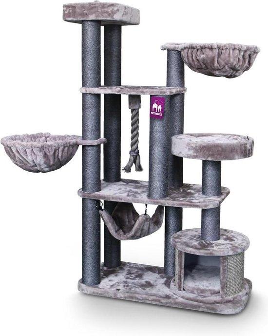 Petrebels Vista 170 krabpaal voor grote katten - Cappuccino - 170 cm hoog