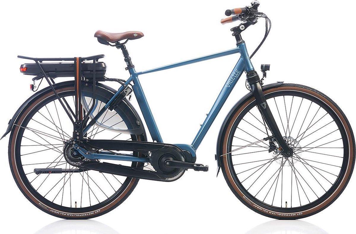 Villette l' Amour elektrische fiets, Nexus 8 naaf, middenmotor, middenblauw 57 (+3) cm, 13 Ah accu