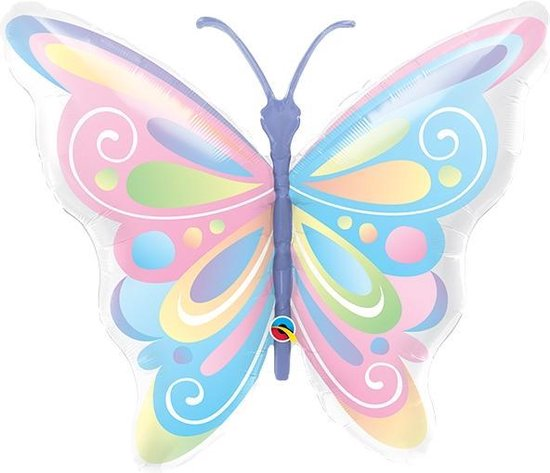 Folieballon Butterfly Pastel
