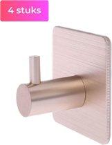 Nova Design - Zelfklevende Handdoekhaakjes - 4 stuks - Wandhaakjes - Goud