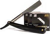 EUROMAX 300 Scheermesjes  + TSF Razor, Shavette, Barbiersmes, kappersmes, klassiek open scheermes,