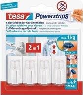 Tesa 58034-07-01 Tesa Powerstrips Vario Gordijnhaken Wit