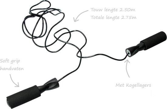 Afbeelding van Kaytan Sports Spring Touw-Professioneel Springtouw-Fitness-Boks-Krachttraining-2.5 m- Zwart