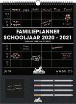 Hobbit familieplanner 2020/2021 - schoolkalender - 4 stiften - D1 - zwart - voor maximaal 5 personen - formaat A3+