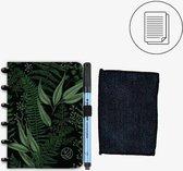 GreenBook - Whiteboard Notebook - A6 Lijn - Forest Green - met doekje