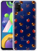 Samsung Galaxy M21 Hoesje Apples and Birds