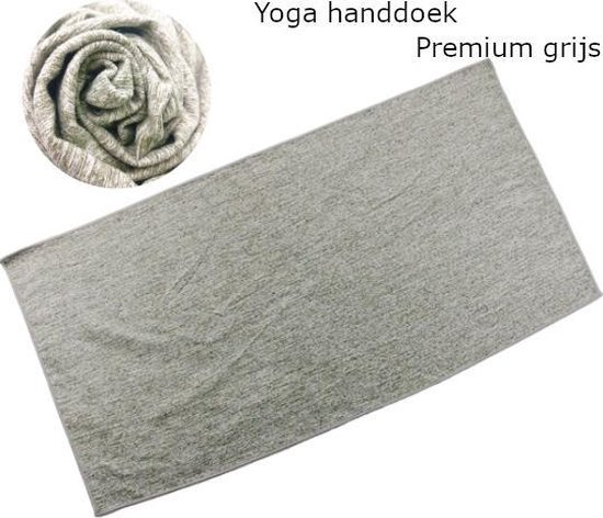 Yoga handdoek | 183 x 80 cm | Sneldrogende yoga handdoek voor yoga en fitness | Thuis Yoga | Thuis sporten | Thuis fitness | Premium grijs
