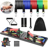 Professioneel 21 in 1 Push up Bord - Inclusief Weerstandsbandenset - Push up Bars - Push up Grips - Opdruksteun - Pull up Bar - Thuis Sporten - Opdruksteun - Fitness Elastiek