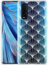 Oppo Find X2 Hoesje White Abstract Pattern