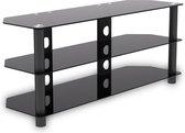 TV kast meubel - TV dressoir - audio meubel - 120 cm breed - zwart
