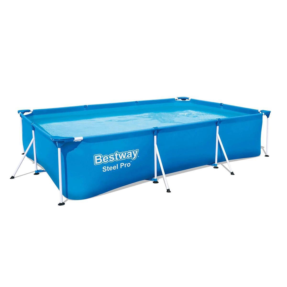 Bestway Steel Pro Zwembad met stalen frame rechthoekig 300x201x66 cm 56404