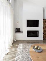 Larson Doorzichtig Vitrage Gordijn – Met Haak – 300x250 cm – Wit