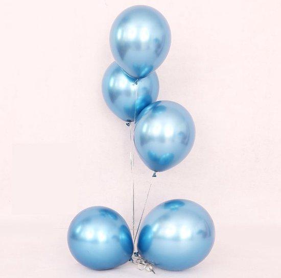 20 Luxe Blauwe Chrome Ballonnen