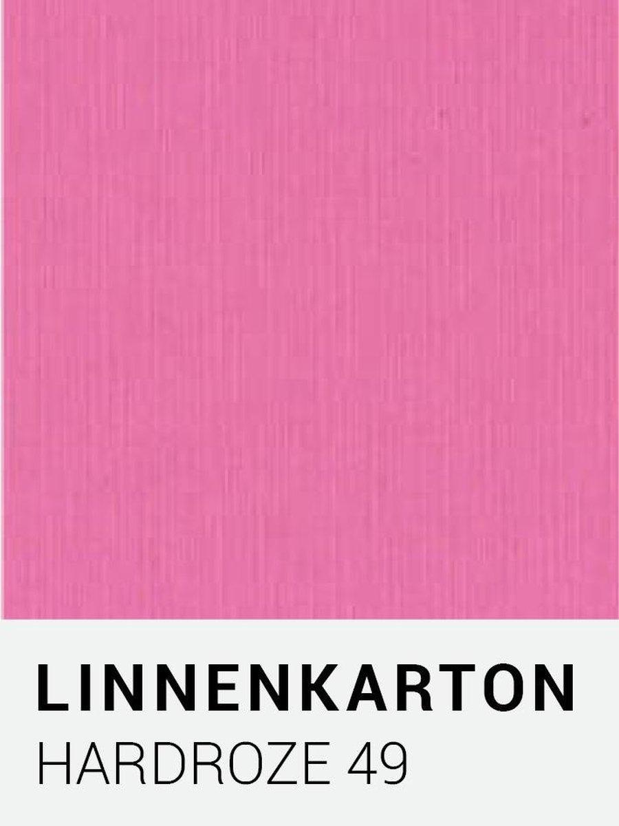 Linnenkarton 49 Hardroze 30,5x30,5cm  240 gr.