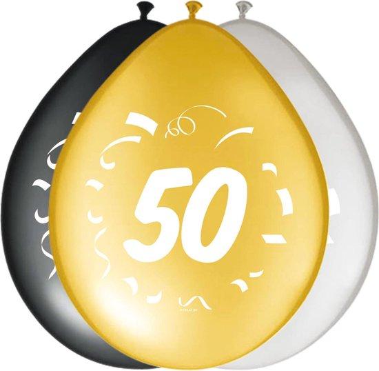 Ballonnen 50 Jaar Versiering 30cm 8st