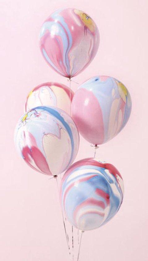 Ballonnen Marmer Pastelkleuren | Gemeleerd | Effen | 10 stuks | Baby Shower - Kraamfeest - Verjaardag - Geboorte - Fotoshoot - Wedding - Marriage - Birthday - Party - Feest - Huwelijk - Jubileum - Event - Decoratie Traktatie School