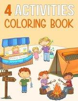 4 Activities Coloring Book