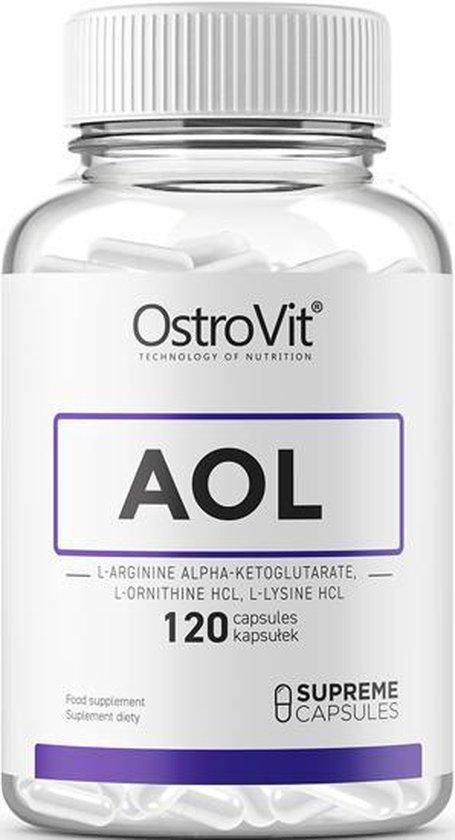 AOL L-arginine alfa-ketoglutaraat + L-ornithine HCL + L-lysine HCL 3000mg  120 Tabletten + GRATIS Pill Box