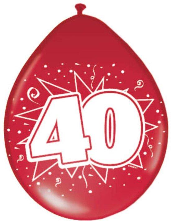 Ballonnen 40 Jarig Jubileum 30cm 8 stuks