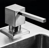 Inbouw zeepdispenser Quadro RVS voor bladmontage