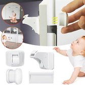 Magnetisch Kinderslot - 15 Sloten + 3 magneetsleutel - Baby Kast Veiligheid - Baby Beveiliging - Kast, Deur en Lade slot – Baby veiligheid magneten