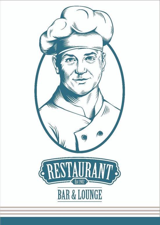 Clarysse Theedoeken Restaurant Blauw 50x70cm 6 stuks